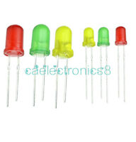 100PCS Round Head Light Emitting Diode LED 3mm 5mm Green Red Yellow Mix Color