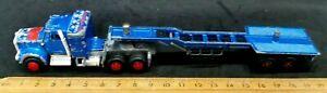 Majorette Vintage Blue Lowboy Tractor Trailer Semi Truck Big Rig