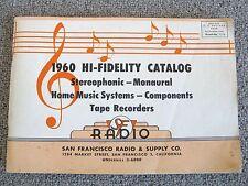 Vintage HIFI 1960 Hi-Fidelity Catalog SF Radio & Supply 144 Pages Specs Prices
