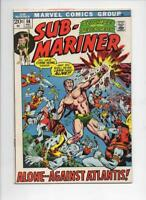 SUB-MARINER #56, VF, Adkins, Atlantis, Marvel, 1968 1972, more in store