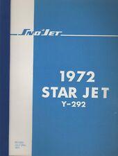 1972 SNO-JET SNOWMOBILE STAR JET Y-292 PARTS MANUAL (682)