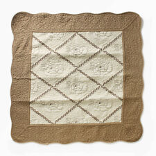 Rose Patterned Quilt Pad (with Tracking) Cotton Soft Feeling Bedroom Living Room