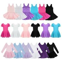 US! Kids Girls Ballet Tutu Dress Gymnastics Ballerina Leotard Dancewear Costume