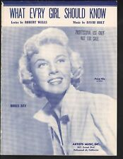 What Every Girl Should Know 1954 Doris Day Sheet Music