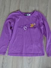 Chiemsee Langarm Shirt, lila mit Stickerei, Gr. 140 * NEU * TOP Zustand