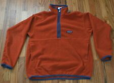 Patagonia Kids' Xl (14) Synchilla Fleece Marsupial 1/2 Zip Pullover Burnt Orange
