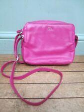 Las Tula Crocus Hot Pink 100 Leather Handbag Across Body Bag