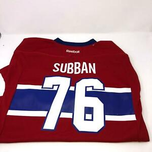 NWT NHL Subban #76 Reebok Montreal Canadians Jersey Kids Youth L/XL