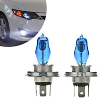 1 PAIR H4 HEADLIGHT GLOBES CAR LIGHT BULBS 6000K 100/90W 12V XENON SUPER WHITE