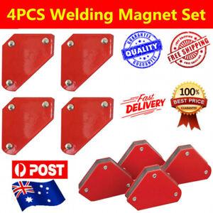 4 Welding Magnet Magnetic Square Welder Holder Arrow Clamp 45 90 135° 4.5KG 10LB