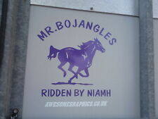 "2  x 10"" GALLOPING HORSE, TRAILER / VAN CAR DECALS VINYL GRAPHICS STICKER"