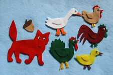 """Henny Penny"" handmade children story felt/ flannel board set"