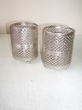 2 x Moroccan Style Silver Colour Metal Candle Tealight Holders Ideal Christmas
