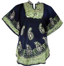 Fashion Women Loose Sleeve Batwing Dolman Tunic Blouse Top One Size Black Green