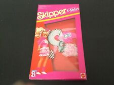 1989# Barbie Dolls - Skipper Wearing T Shirt Fashions Outfit# Mattel Sealed