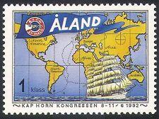 Aland 1992 Sailing Ship/Wheat/Commerce/Trade/Map/Nautical/Transport 1v (n41527)