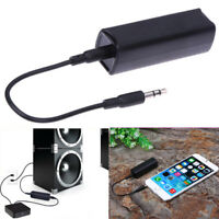 Ground Loop Noise Isolator Eliminate Car Home 3.5mm Aux Audio System Stereo