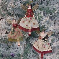 Gisela Graham Toy Factory Angel Fairy Hanging Christmas Tree Vintage Decoration
