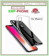 Cover Custodia Iphone 5 X SE 6 7 8 Plus Trasparente + Pellicola Vetro Temperato
