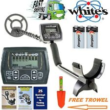 """Whites Coinmaster Metal Detector with Waterproof 9"""" Spider Search Coil Free Trow"""