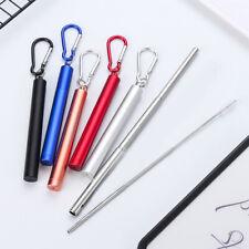 Сталь нержавеющая многоразовый выдвижной портативный соломинка щетка комплект инструмент 41