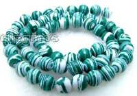 """8mm Green Peacock Zebra Stripe Round Natural Agate Beads strands 15"""" Jewelry 481"""