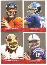 Lot of 15 2013 Topps Archives Football Stand Up Set Manning's Luck & RG 3