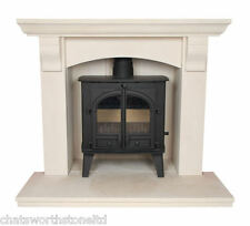 THE NORFOLK MULTI FUEL  LIMESTONE   / STONE FIREPLACE / FIRE PLACE SURROUND