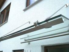Edelstahl Regenrinne mit Klemmhalterungen bis 249cm/Vordach/Glasdach