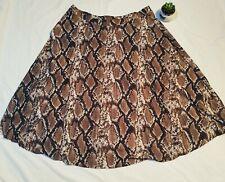 Snake print skirt size 20 W36 W40 brown