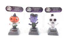 New Set of 3 Solar Dancing Halloween Pumpkin man Monster and Skeleton