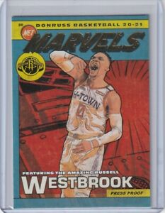Russell Westbrook 2020-21 20-21 Donruss Marvels Gold Press Proof #4