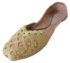 Traditional Handmade Indian Women Shoes Leather Flip-Flops Ballet Flat US 5