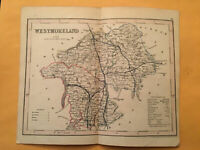 KE) Antique Original 1842 Westmoreland England County Map Modern Geography