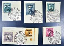 GERMANY in occupied CZECHOSLOVAKIA 1938 , $$$, Sign Sudetenland Provisionals !!!