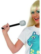 Fake Glitter Microphone Fun Play Fancy Dress Accessory NEW P50