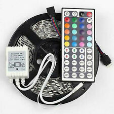 5050 RGB 5M 300 LED Strip Light Black PCB Outdoor Waterproof + 44Keys IR Remote