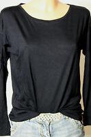 edc by ESPRIT Shirt Gr. S dunkel-blau Langarmshirt/Shirt/Longsleeve