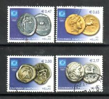 """Greece 2004 Used stamps of """"Ancient Olympic Coins"""" Full Set"""
