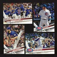2017 Topps CHICAGO CUBS Team Set 1 & 2 Updates 41 cards MINT
