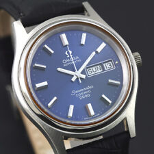 VINTAGE OMEGA SEAMASTER COSMIC 2000 AUTOMATIC BLUE DIAL MEN'S SWISS 38mm WATCH