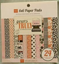 """Echo Park Yours Truly Paper Pad Vintage Valentine Love Hearts XOXO 6x6 6"""" NEW"""