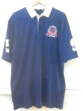 GUINNESS Blue Irish Classic Rugby Polo Jersey Size XL Official Mens Shirt Logo