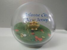 Beach Ball Glass Globe - Vintage Decorative Atlantic City New Jersey Casino Art