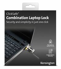GENUINE Kensington ClickSafe K64697US Combination Laptop Lock 6 feet Grey BNIB