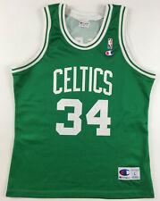Boston Celtics #34 Paul Pierce jersey NBA Champion vintage green Large L