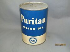 Vintage Pure Motor Oil Can Puritan Motor Oil Can