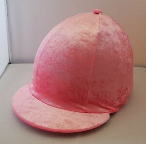 RIDING HAT COVER - VELVET/VELOUR PINK WITH AMAZING SPARKLE