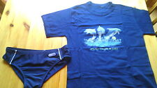 BOYS 2 SWIMMING PANTS TRUNKS 9-10 YEARS ADAMS GEORGE T-SHIRT DOLPHIN 7-8 YEARS