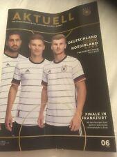 Germany V Northern Ireland football programmes